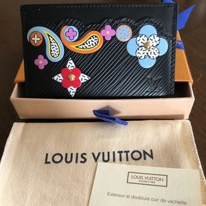 LV Limited Edition Epi Leather Card Holder